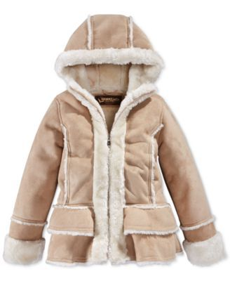 Lucky Brand Kids Girls' Shearling Moto Jacket (Little Kids) | My ...