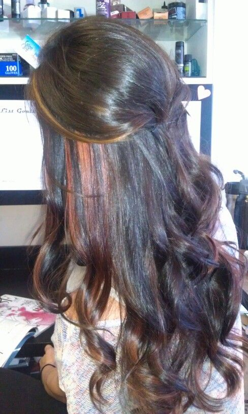 Copper Highlights With Chocolate Hair Red Hair Pinterest