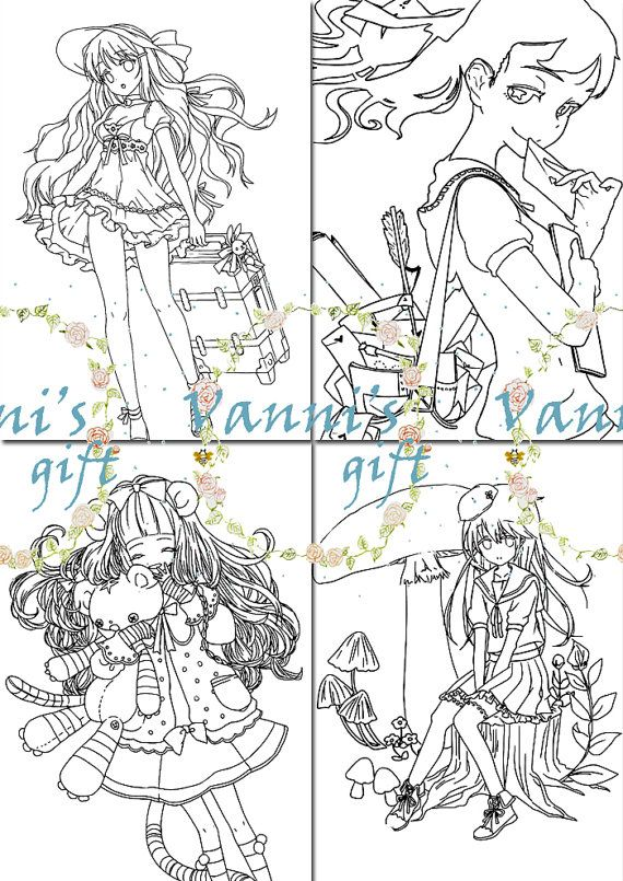 d03 12 girl japanese anime coloring page card by vannisgift