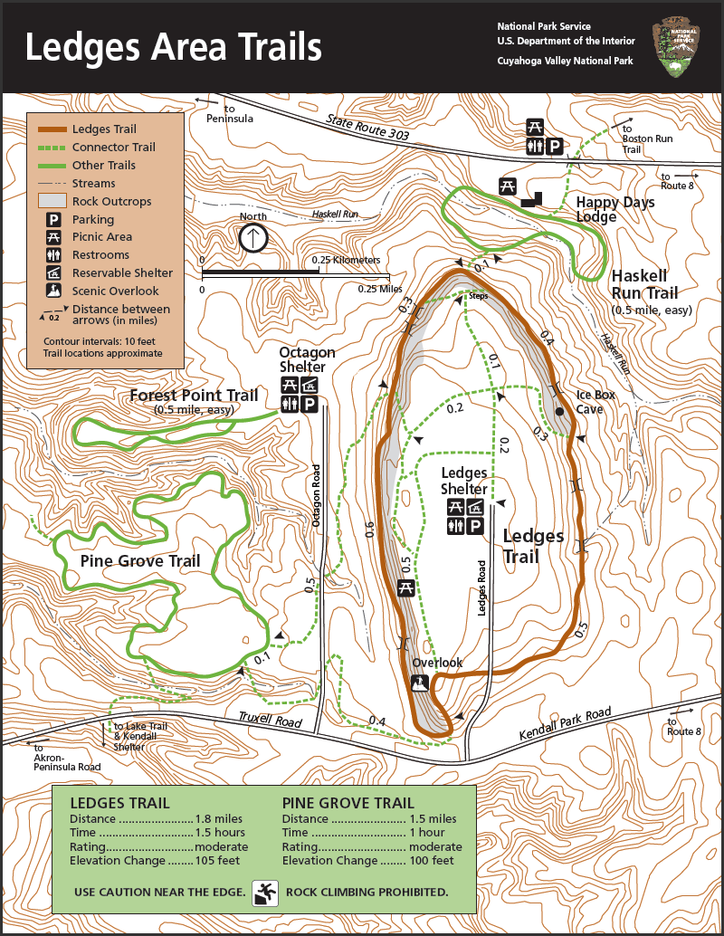 cuyahoga valley trail map Cuyahoga Valley National Park Ritchie