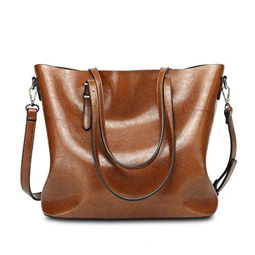 Pahajim Women satchel purses top PU leather handbags shoulder bag Messenger  Tote Bag 18431003a4792