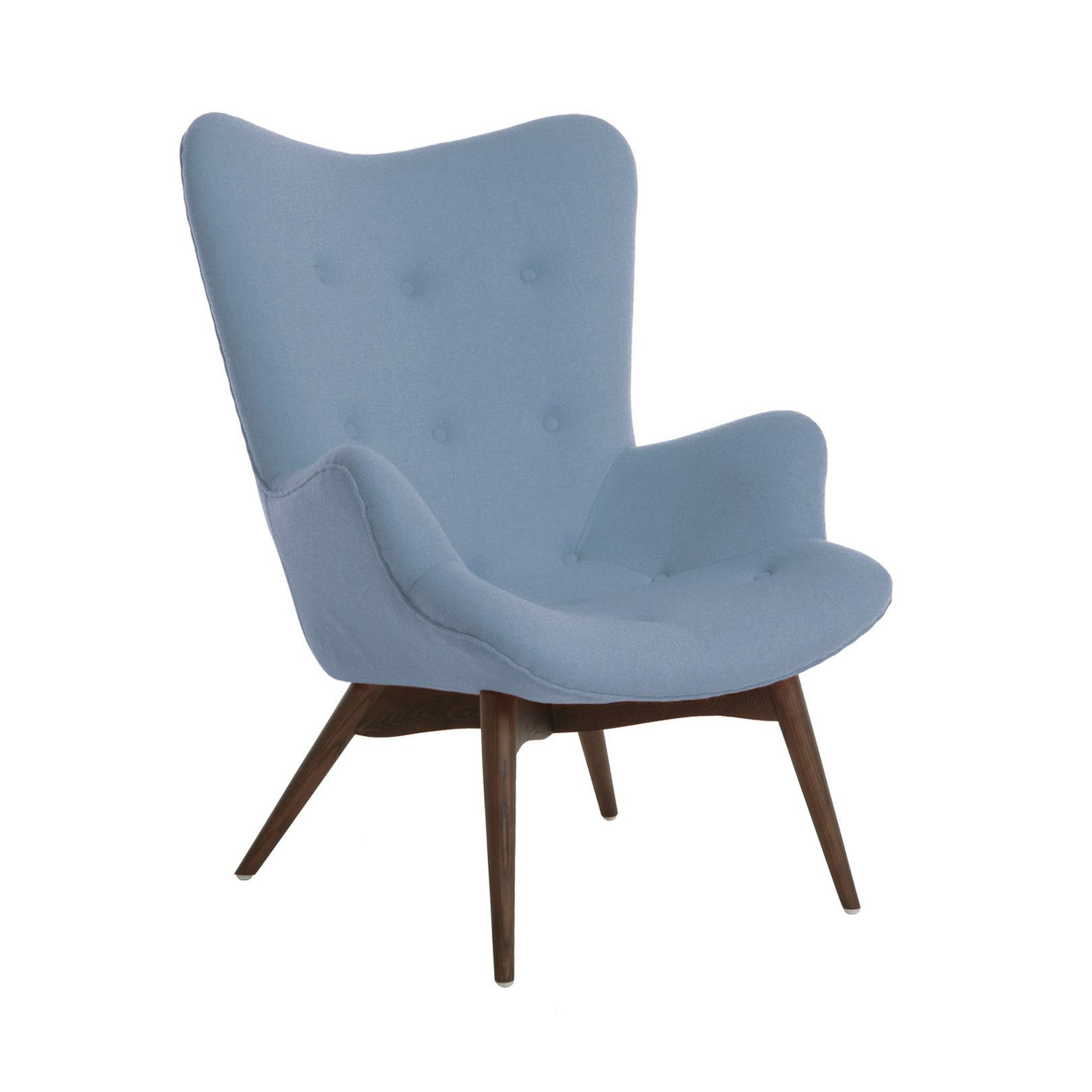 Aarhus Mid Century Soft Blue Lounge Chair