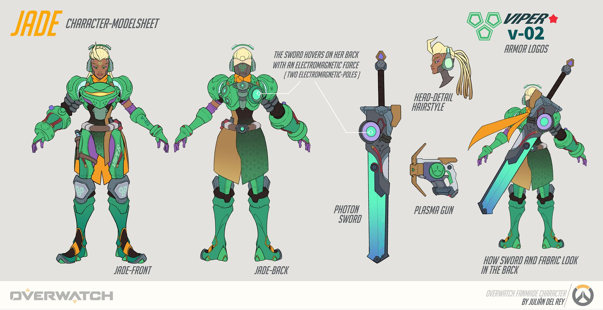 Character Design Overwatch : Artstation jade fan made character for overwatch