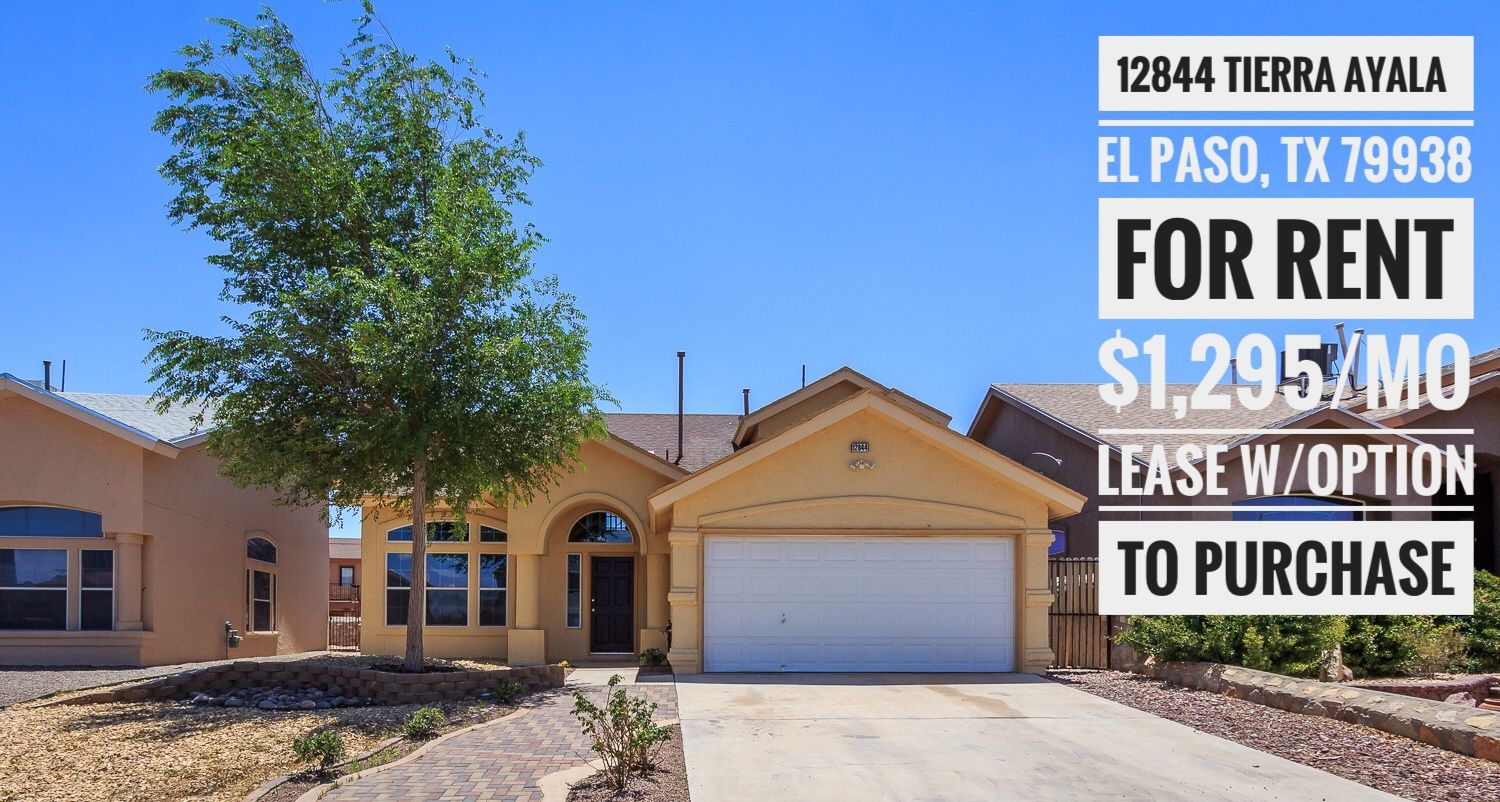 Owner Financing Available 915 585 8217 Elpaso Elpasotx Itsallgoodep Realestate Realtor Homeforrent Renting A House Rent To Own Homes Rental Property