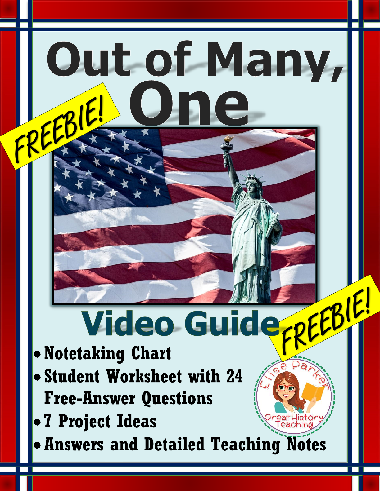 Free Out Of Many One Worksheets And Video Guide