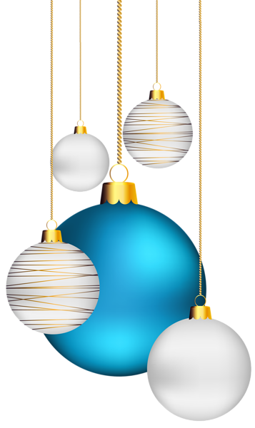 Christmas Balls Transparent PNG ClipArt Image Christmas