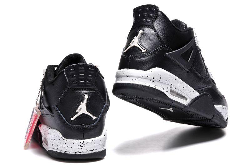 black air jordans women leather