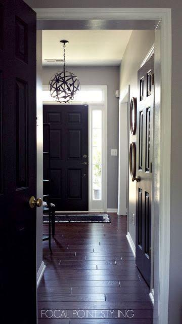 How To Paint Interior Doors Black Update Brass Hardware Painting