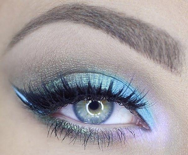 Ideas de maquillaje para los ojos 💚💙 #maquillaje #belleza #sombras #maquillajeojos #makeup #beauty #fashion #style