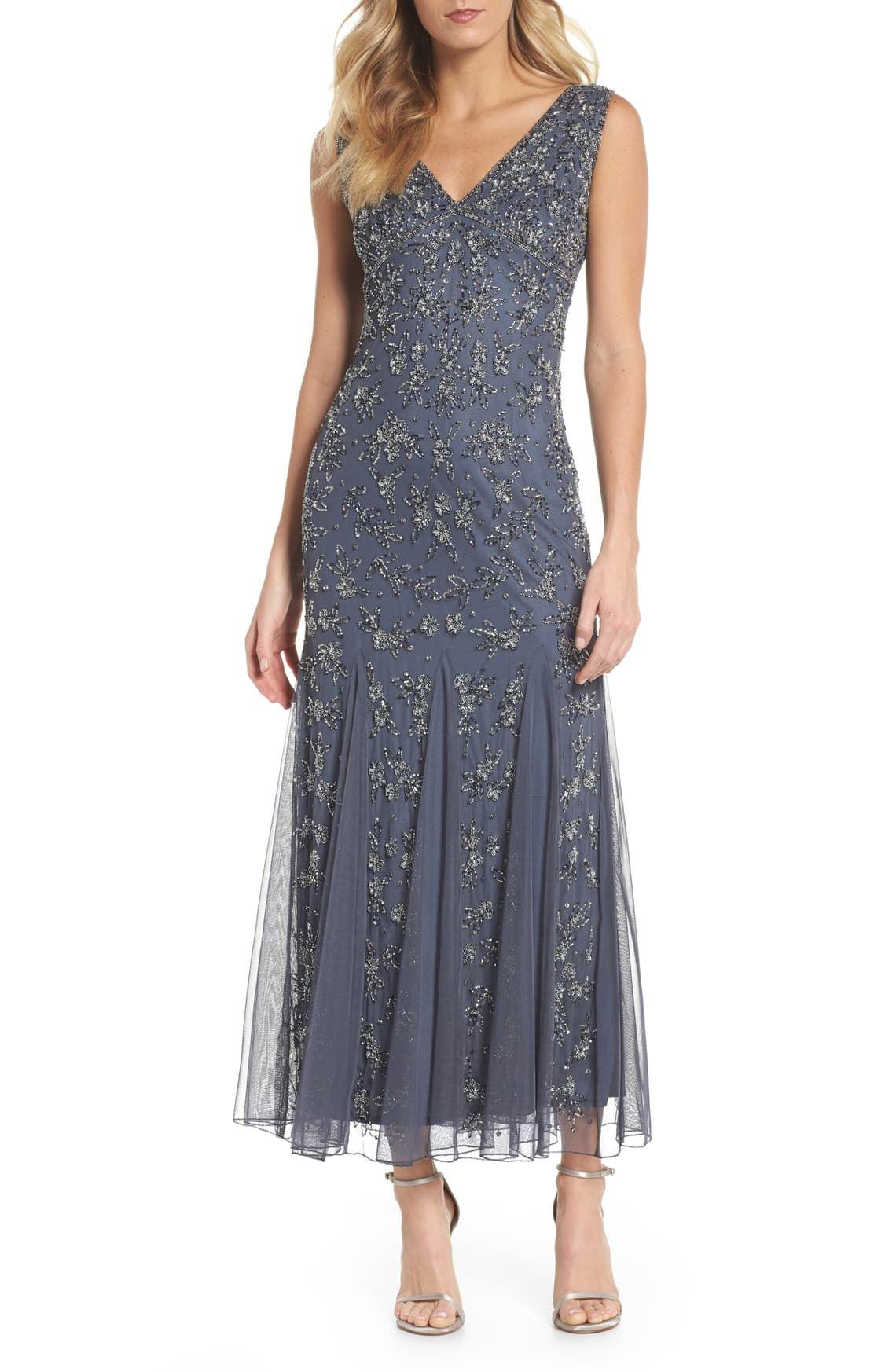 Pisarro Nights Beaded Godet Gown Regular Petite Nordstrom In 2020 Mother Of Groom Dresses Groom Dress Night Dress
