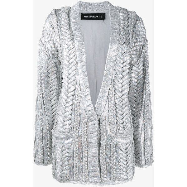 Filles A Papa Cable Knit Sequin Embellished Cardigan ($1,335 ...