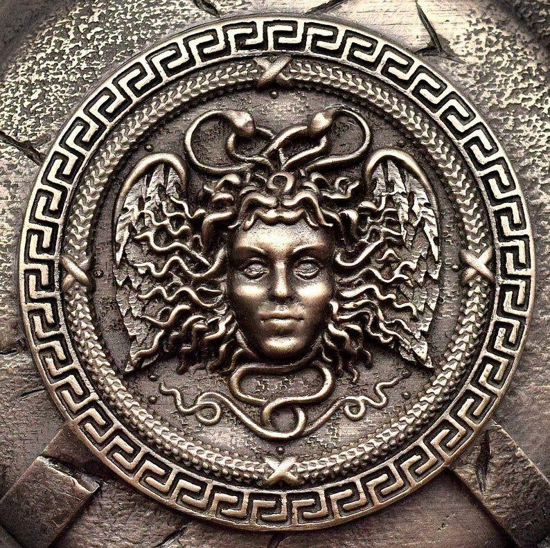 Medusa Greek Mythology Wall Decor Gorgon Head With Snakes On Etsy In 2020 Medusa Greek Mythology Greek Mythology Art Medusa Art