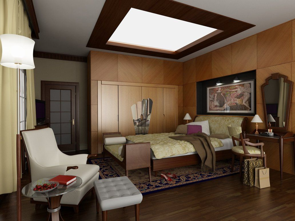 Art Deco Meets Mid Century Modern In This Bedroom