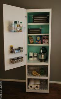 20 Faux Kitchen Pantry Ideas #pantrycabinet