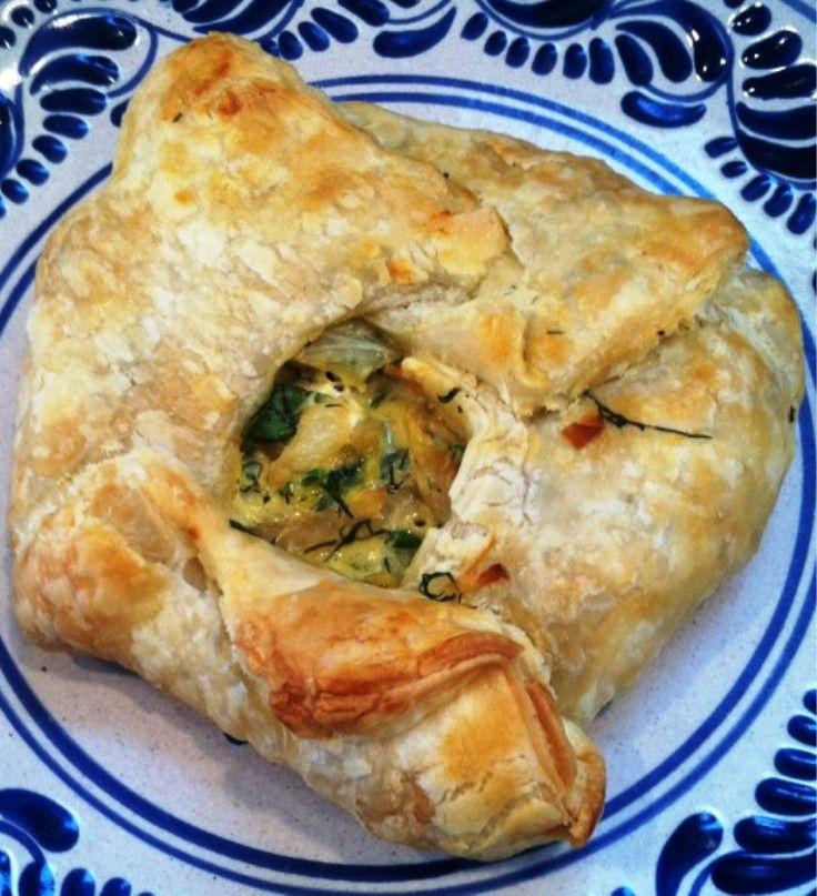 Greek-Style Cabbage with Caramelized Onion Dill Crostada
