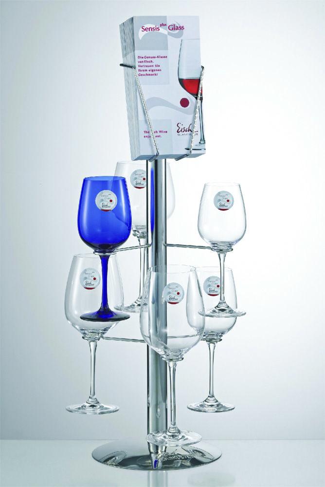 Eisch Chrome Counter Display (6 Glasses) 60cm 95930004