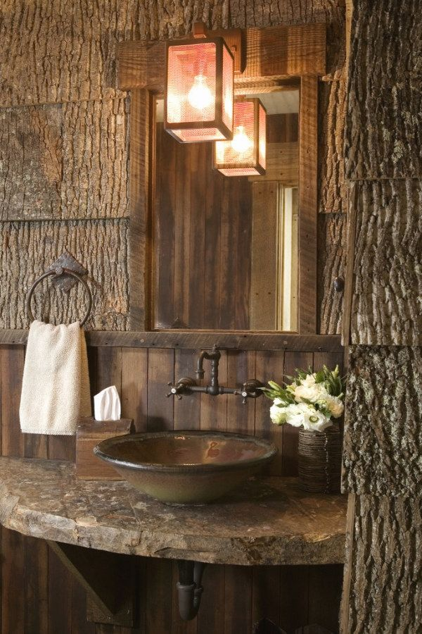 50 Beautiful Rustic Style Bathroom Lighting Fixture Ideas