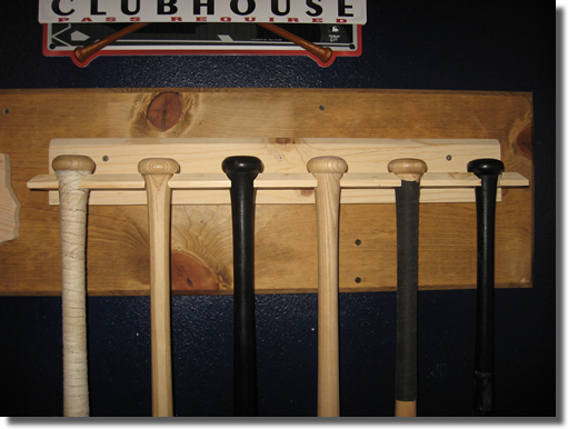 Six 6 Baseball Softball Bat Rack Ships Unfinished Or Your Choice Of Finish 45 99 Shipping