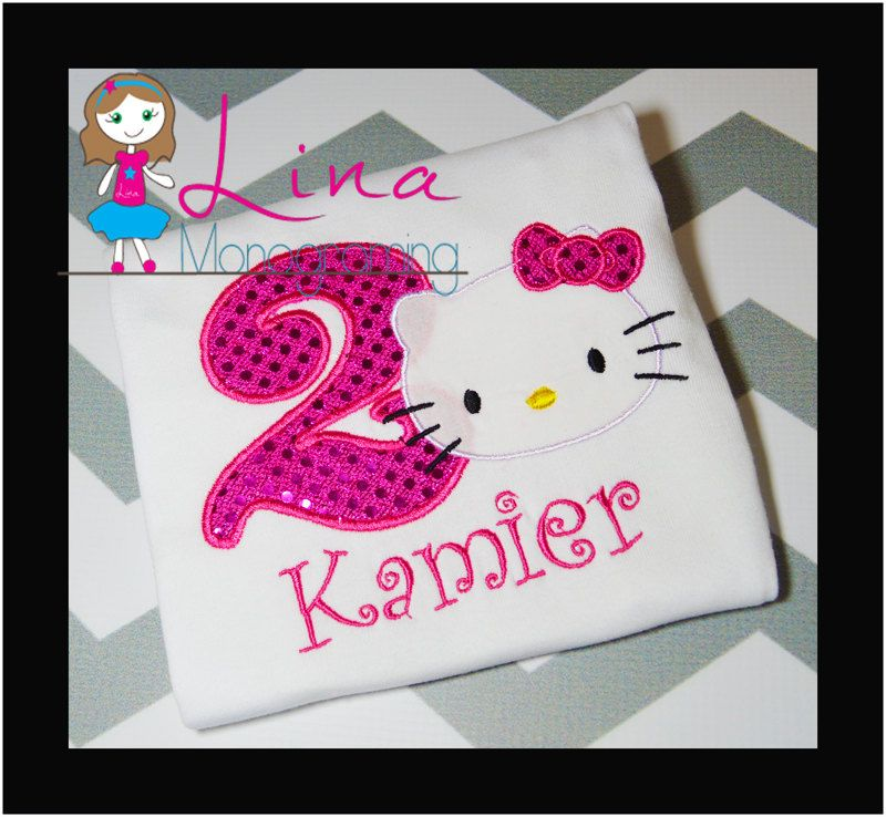 Hello Kitty birthday shirt by LinaMonograming on Etsy, $20.00 ...