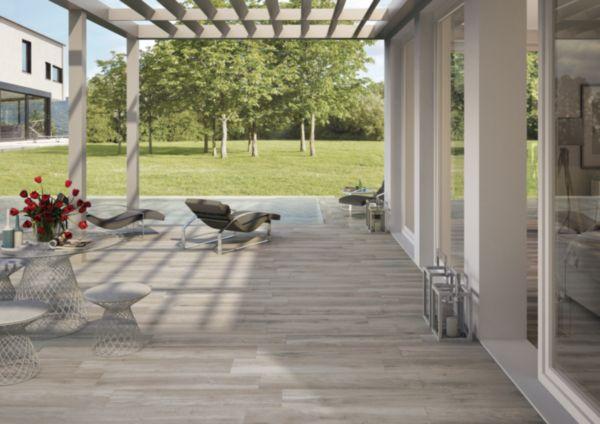 Grès cérame Century Cottage gris ortles antidérapant 23x100cm
