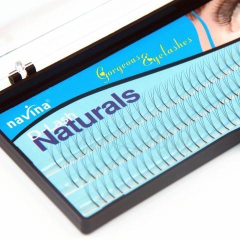 fedb7ef961a Navina D-Lash Curl Knot Free 3D W Lash False Eyelash Natural Black Individual  Eyelashes Extension 12mm 10mm 8mm Fake Eyelash