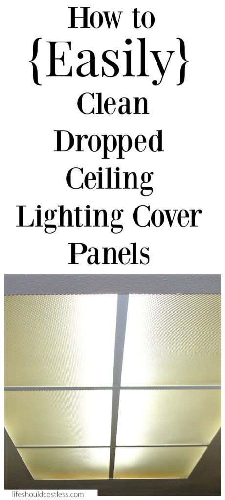 How to easily clean dropped ceiling lighting cover panels. Best cleaning tip!  See this and other popular cleaning pins at lifeshouldcostless.com.