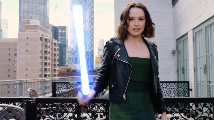 Star Wars Actress Daisy Ridley Shows Off Her Lightsaber Skills While Answering 73 Questions