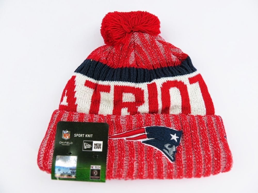 New England Patriots NFL NEW ERA ON FIELD OFFICIAL SIDELINE BEANIE KNIT df3cd46039b