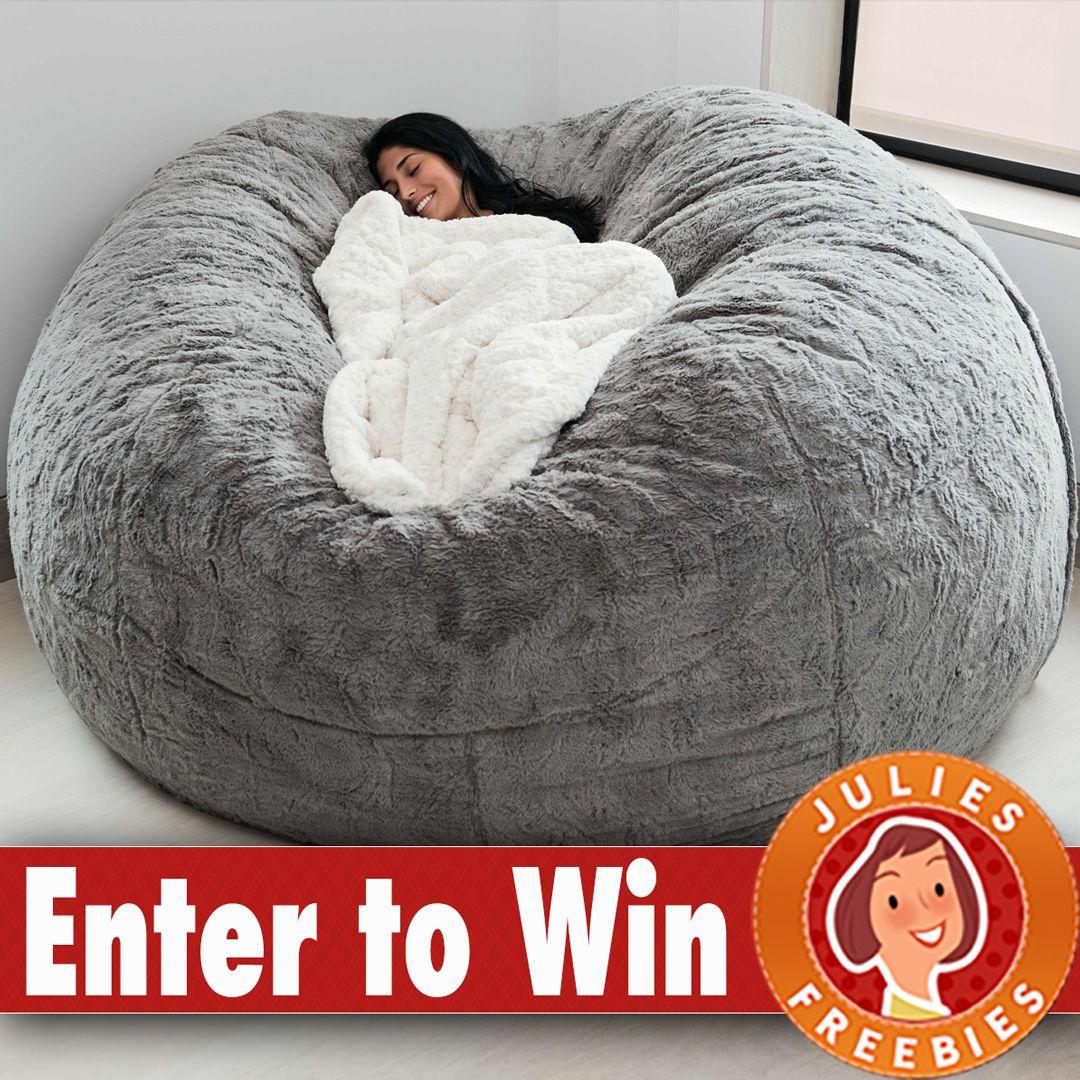 Win a Chinchilla Lovesac Beanbag Chair BEDROOM Bean