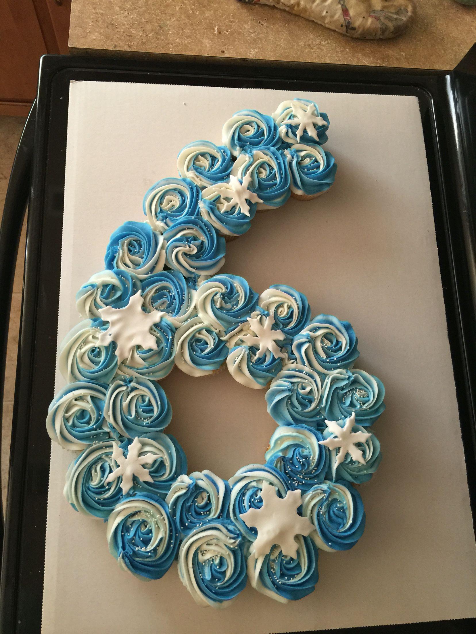 snow frozen pull apart cupcake cake 6 six cakes n cupcakes n