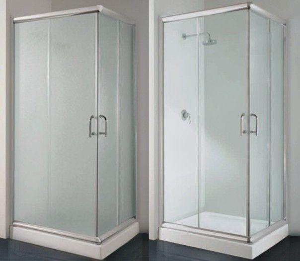 Box doccia angolare con vetro trasparente o opaco diverse - Box doccia vicenza ...