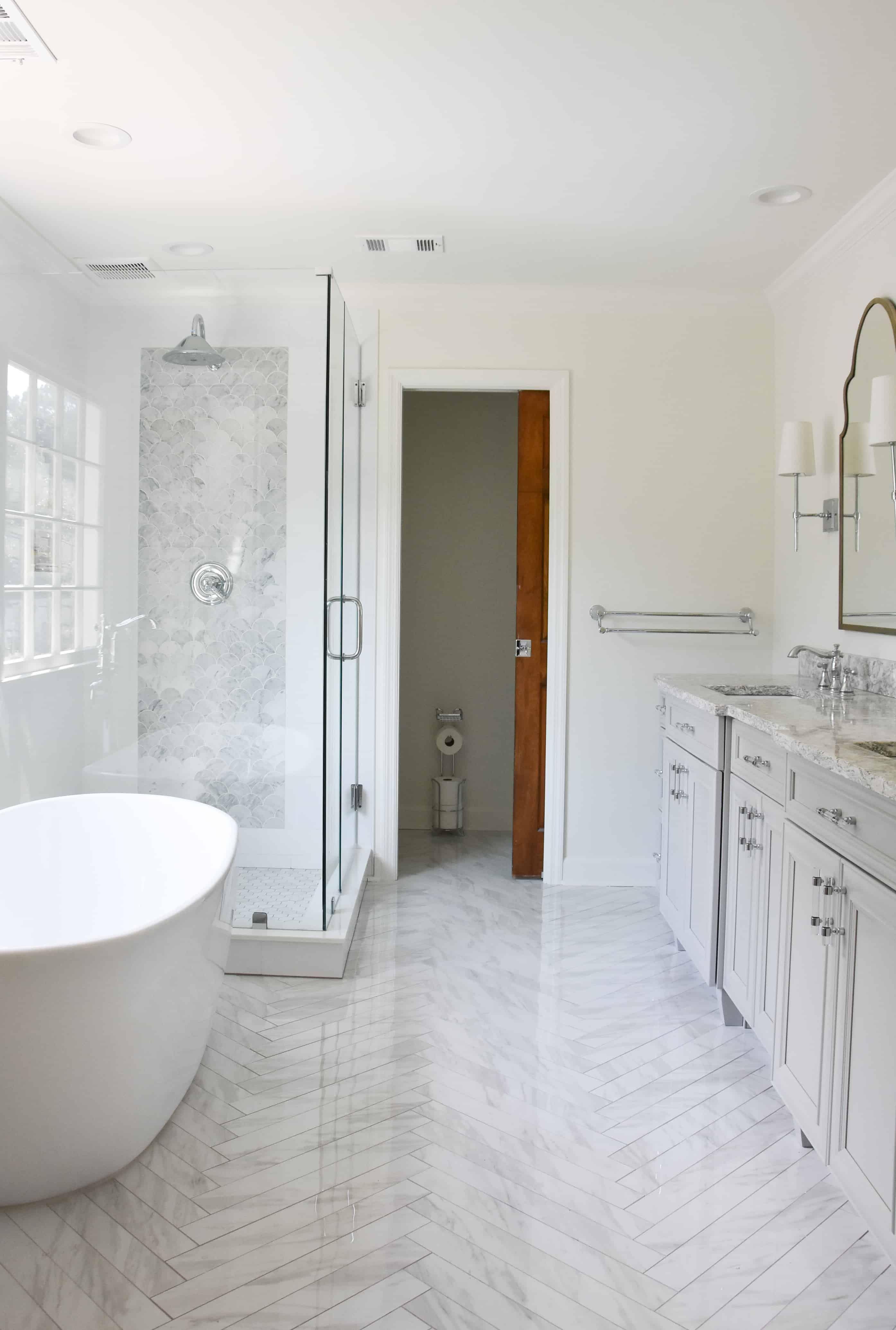 Master Bathroom Week 6 Construction Update The New Bathroom In 2020 Budget Bathroom Remodel Master Bathroom Design Bathrooms Remodel