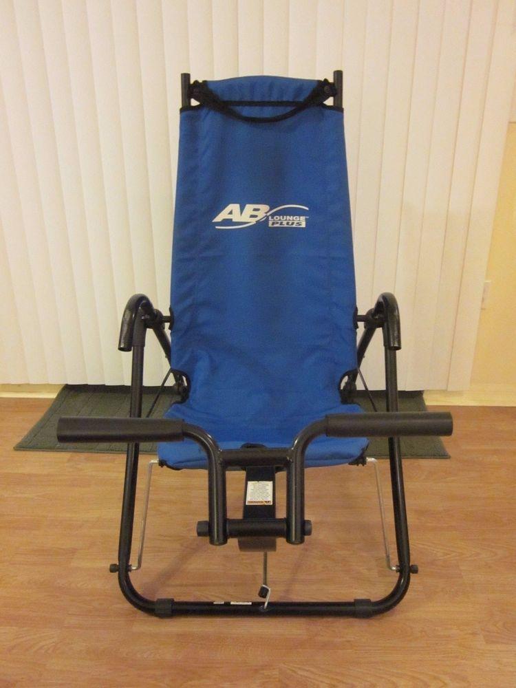 AB Lounge Plus Abdominal Core Exerciser Blue Fitness Quest Machines #FitnessQuest