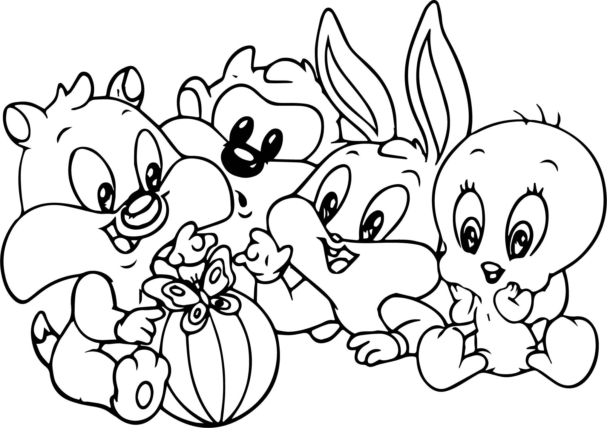 Bugs Bunny Baby Friends Coloring Pages | Malvorlage hase ...