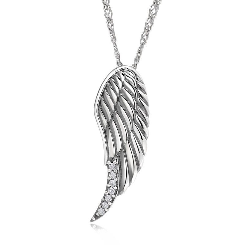 Angel wings 925 sterling silver couple pendant necklaces matching angel wings 925 sterling silver couple pendant necklaces matching set aloadofball Choice Image
