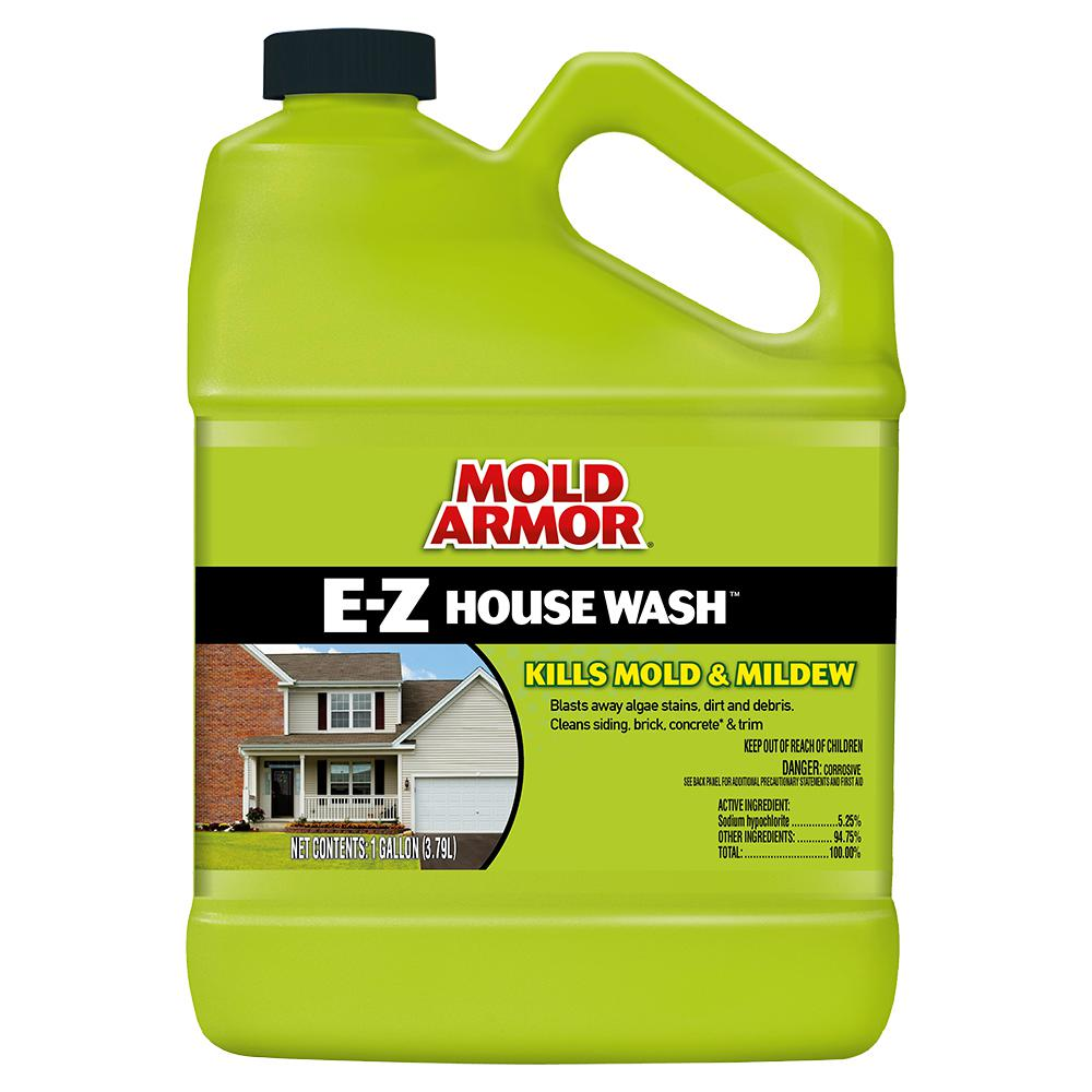 Mold Armor 1 Gal E Z House Wash Fg503 The Home Depot House Wash Clean Siding Cleaning Vinyl Siding