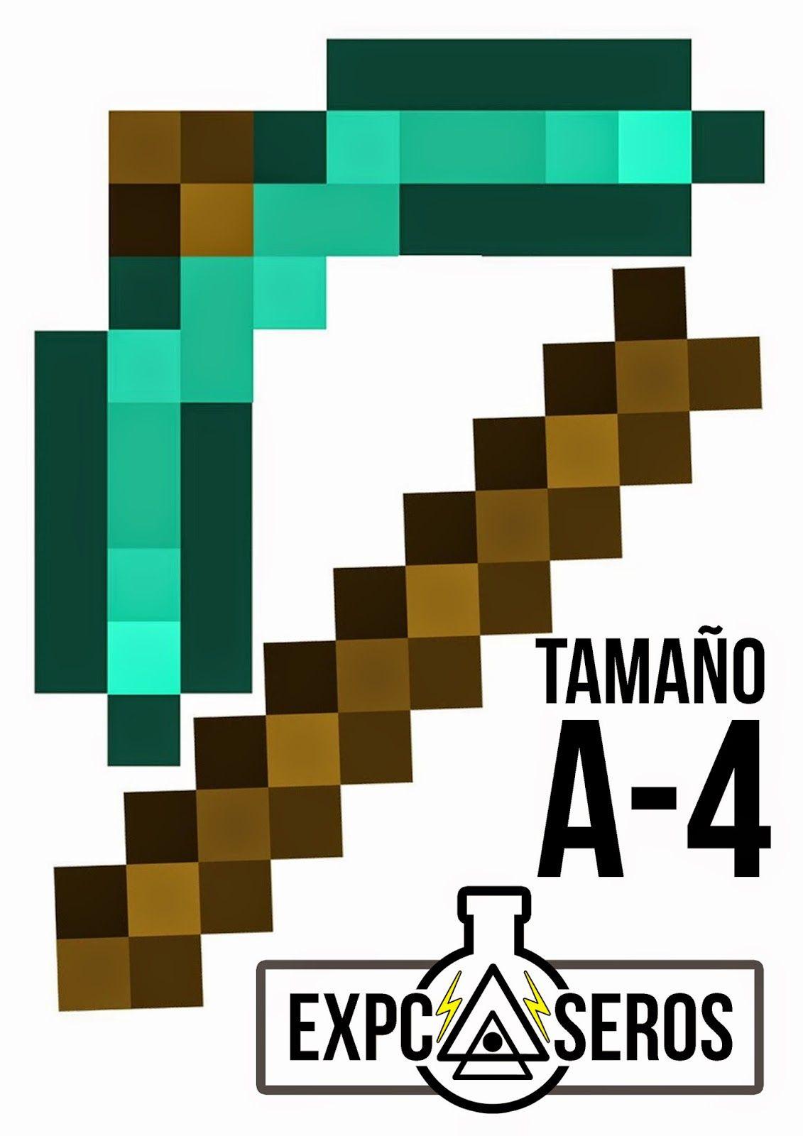 Resultado De Imagen Para Pala De Minecraft Para Imprimir