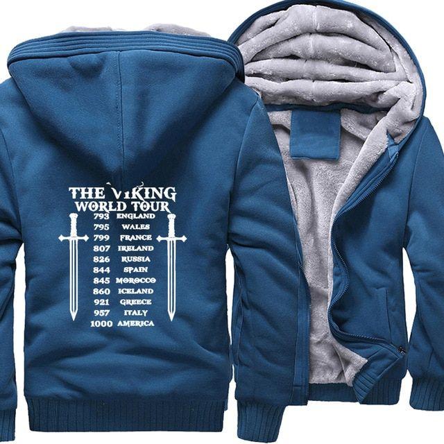 The vickings world tour zip up hoodie jacket (11 varian
