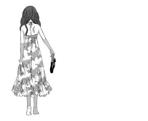 Black and white anime girl