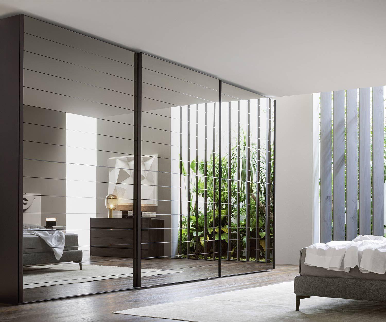 superior design schlafzimmer schrank hersteller 3 #1: Designer Kleiderschrank Crystal Dogato Schiebetüren von Novamobili in 3  Breiten und 2 Spiegelvarianten erhältlich