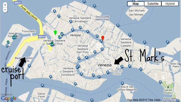 Map of Venice cruiseport | Italy travel guide, Venice ... Venice Cruise Ship Terminal Map on venice italy tourist attractions map, train station venice map, venice airport map, venice italy hotel areas map, venice grand canal map, downtown venice map, venice lagoon map,