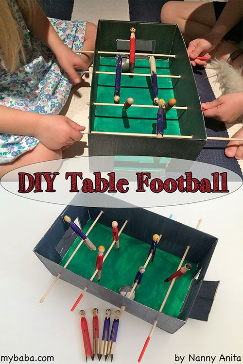 Make your own table football set for hours of entertainment. & Make your own table football set for hours of entertainment ...