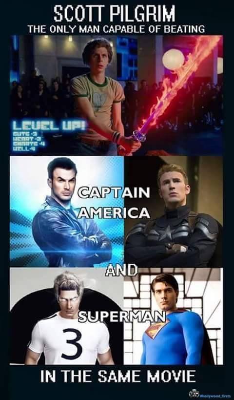 Image result for Captain Marvel Scott Pilgrim meme