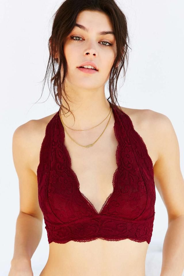 a30f96c077 The halter shape of this  urbanoutfitters bralette is sweet and stylish.  Pair it with matching bottoms for a great gift set!