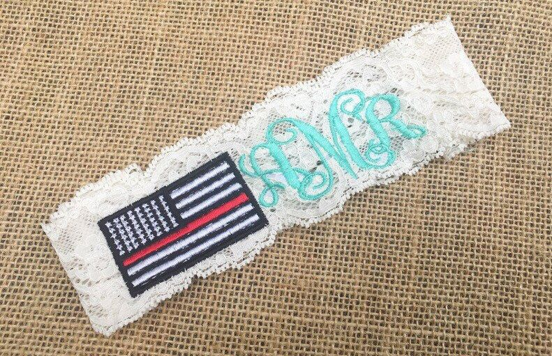 A personal favorite from my Etsy shop https://www.etsy.com/listing/509362620/thin-red-line-garter-fireman-wedding