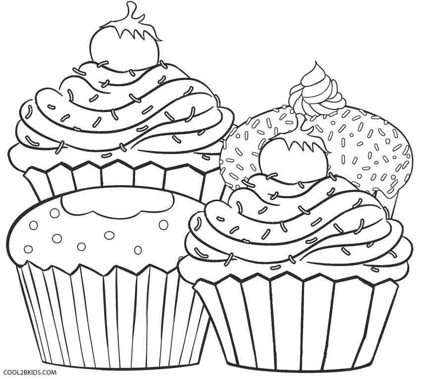 42+ Printable cupcake coloring picture info