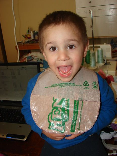 Recycled Plastic Bag Bib | Recycled plastic bags, Plastic ...