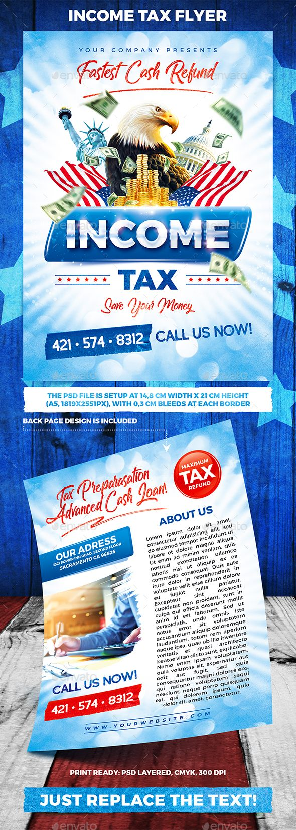 Income Tax Flyer | Flyer template, Flyer printing and Business flyers