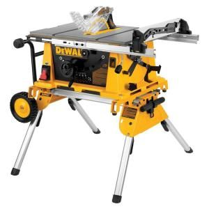 Dewalt 10 In Jobsite Table Saw With Rolling Stand Dw744xrs At