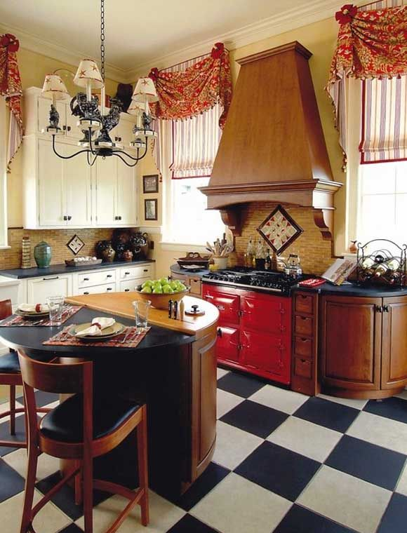 Curtains for the kitchen \u2013 34 photo ideas for inspiration Country